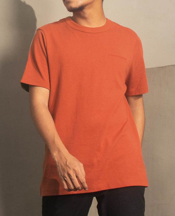 Men's Heavyweight Basic Tee (Rust)