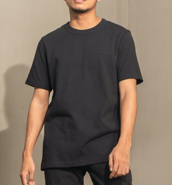 Men's Heavyweight Basic Tee (Black)