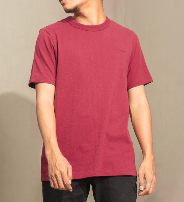 Men's Heavyweight Basic Tee (Maroon)