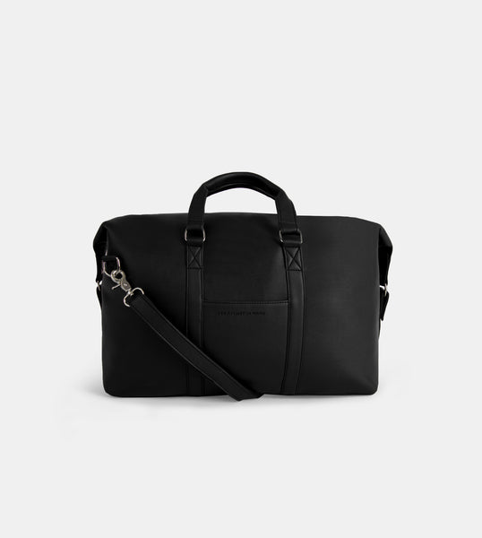 Daily Vegan Leather Weekender Bag (Black)