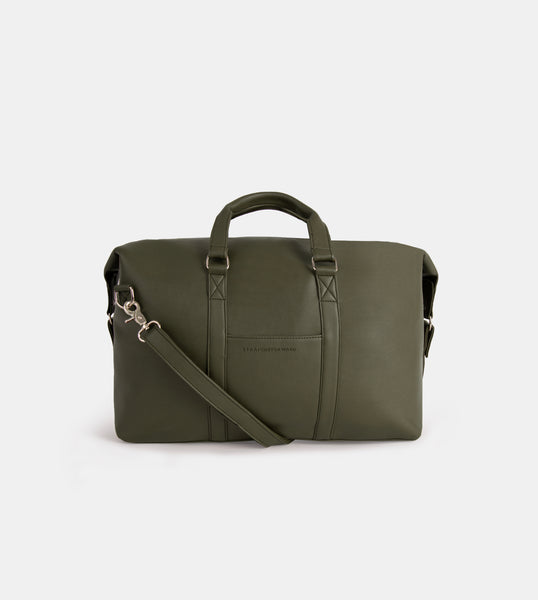 Daily Vegan Leather Weekender Bag (Green)