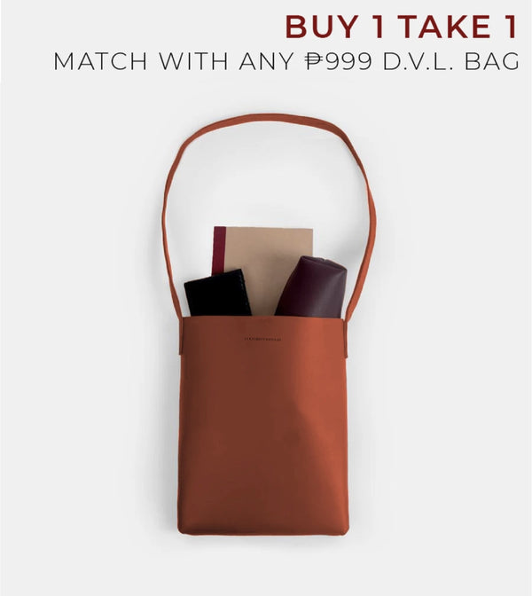 D. V. L. Tote Bag with Sling (Rust)