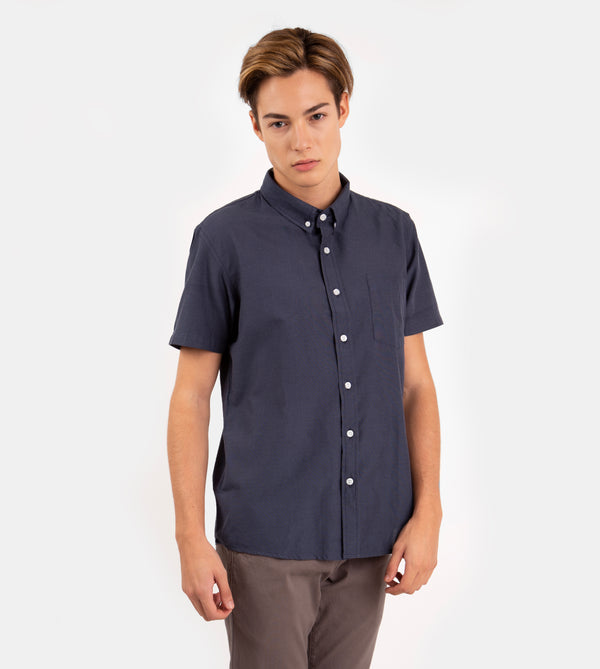 Japanese Chambray Work & Play Shirt (Dark Blue)
