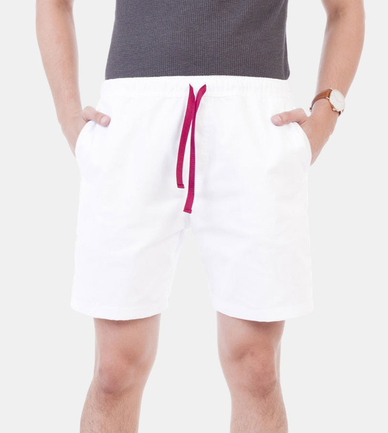 Tailored Shorts (White) - Front