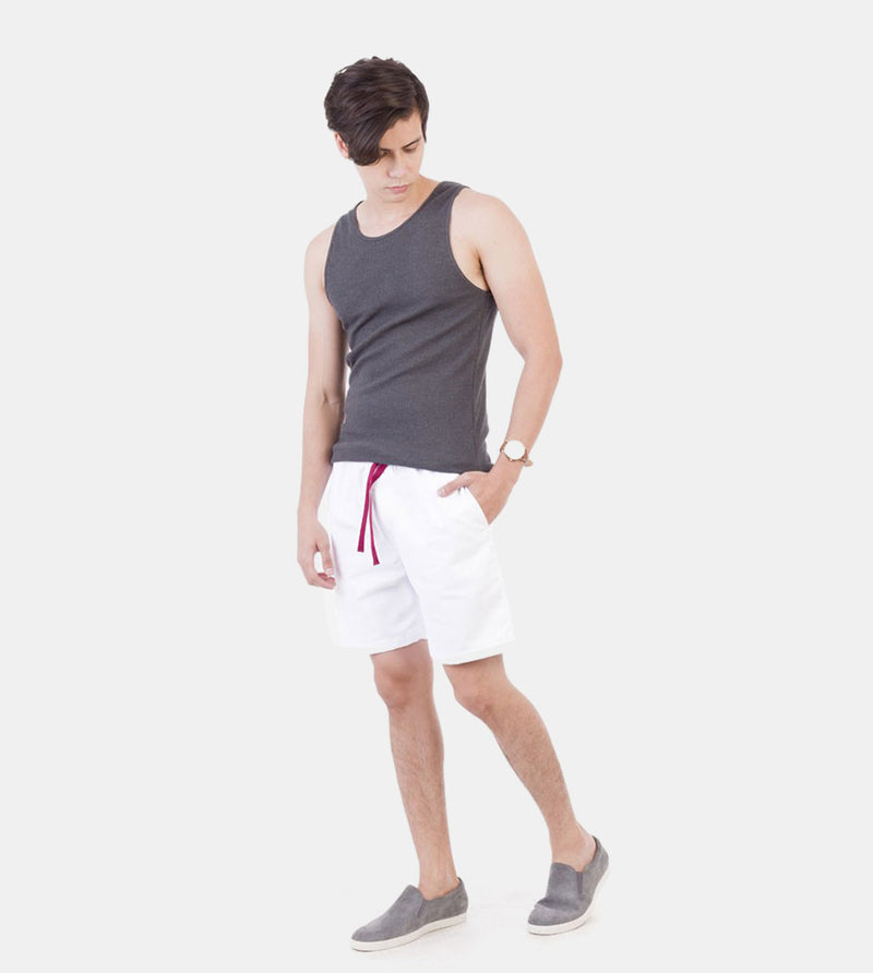 Tailored Shorts (White) - Style