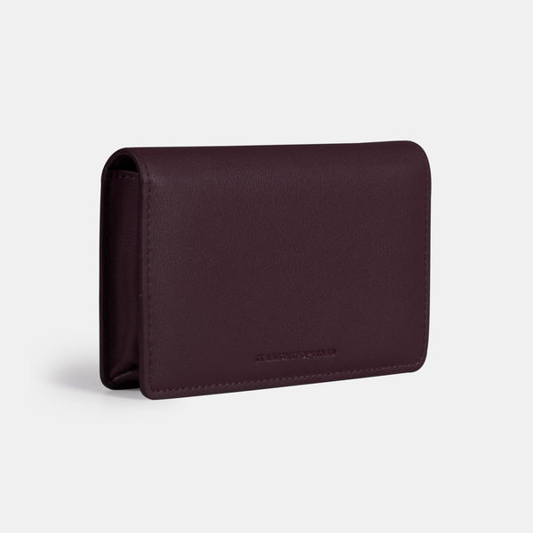 Daily Vegan Leather Snap Pouch & Belt Bag (Wine)