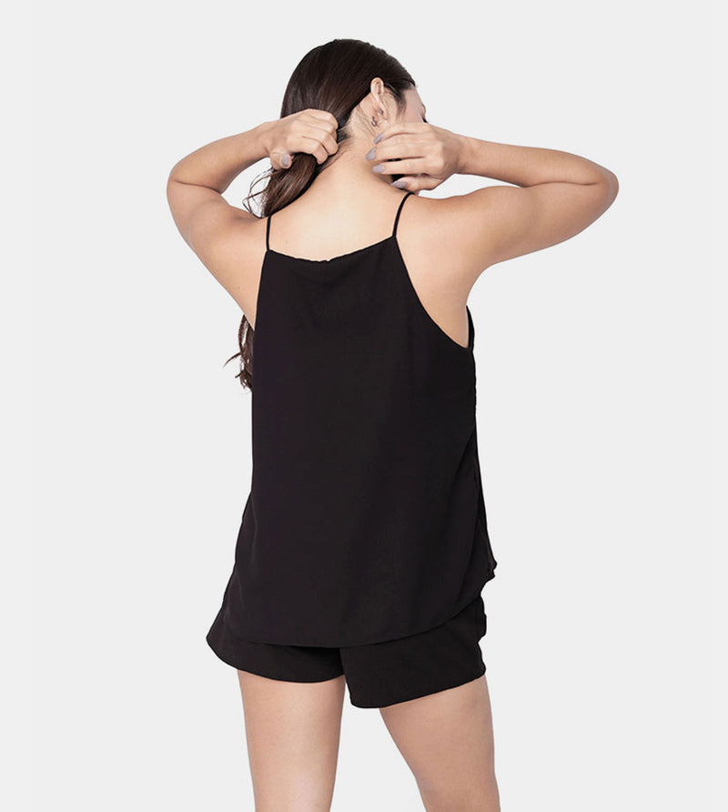 The Weekend Camisole (Black) - Back