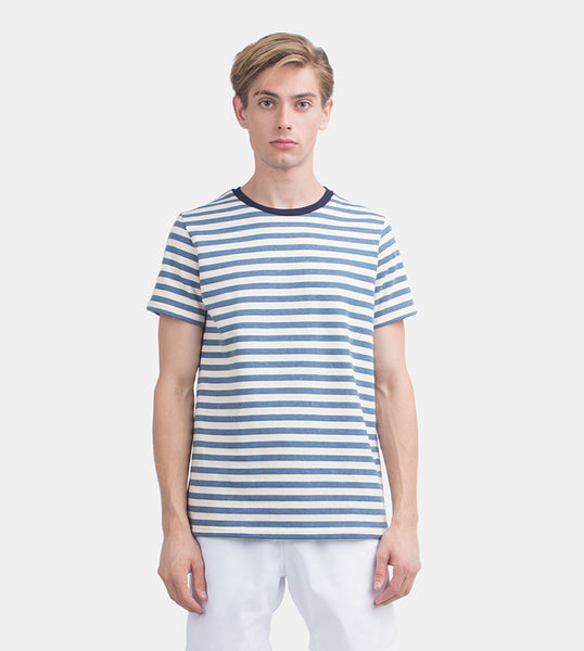 Everyday Striped Tee (Azure)