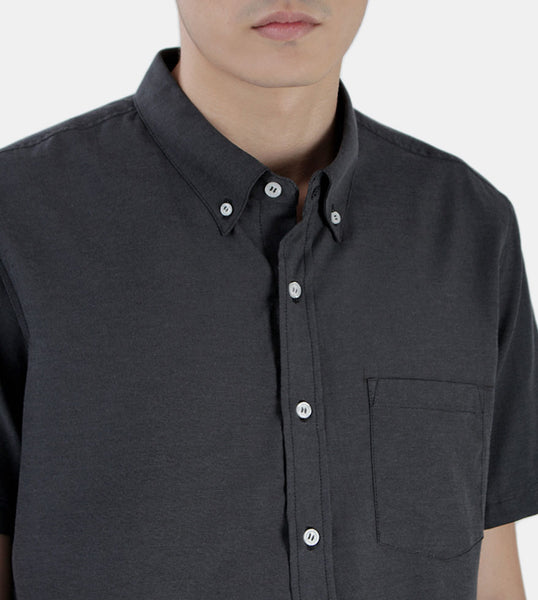 Work & Play Button Down (Black) - Detailed