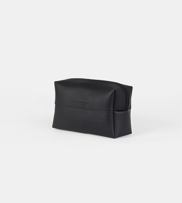 Leather Pouch (Black) - Diagonal