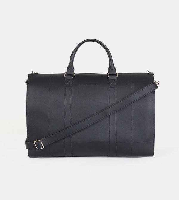 Leather Duffel Bag (Black) - Front