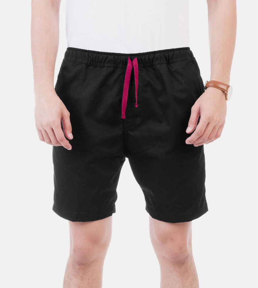 Tailored Shorts (Black) - Front