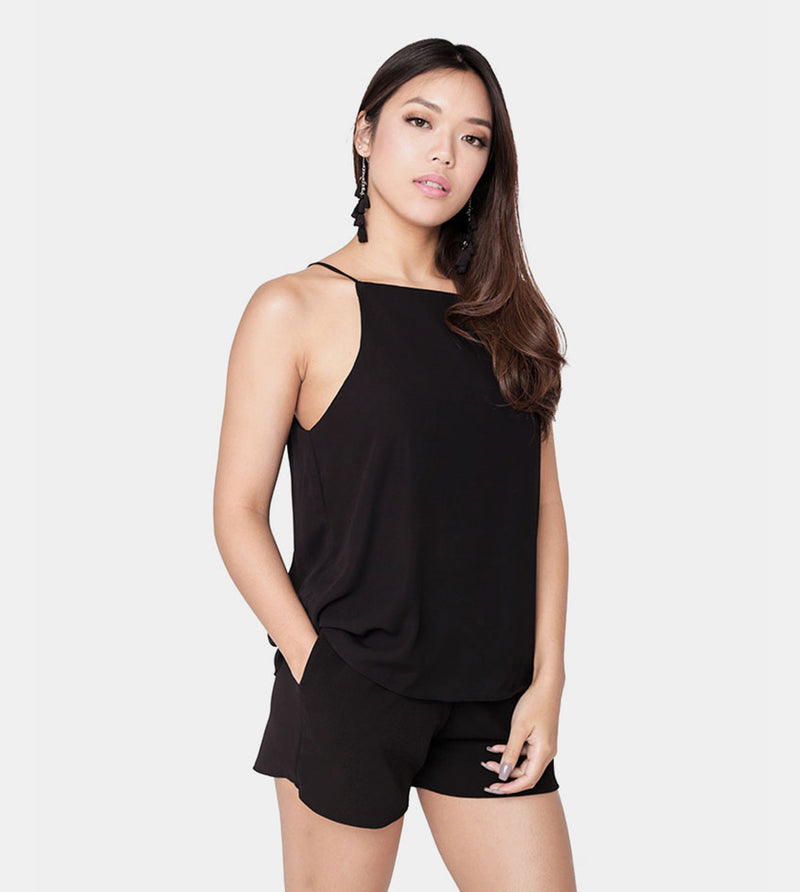 The Weekend Camisole (Black) - Front