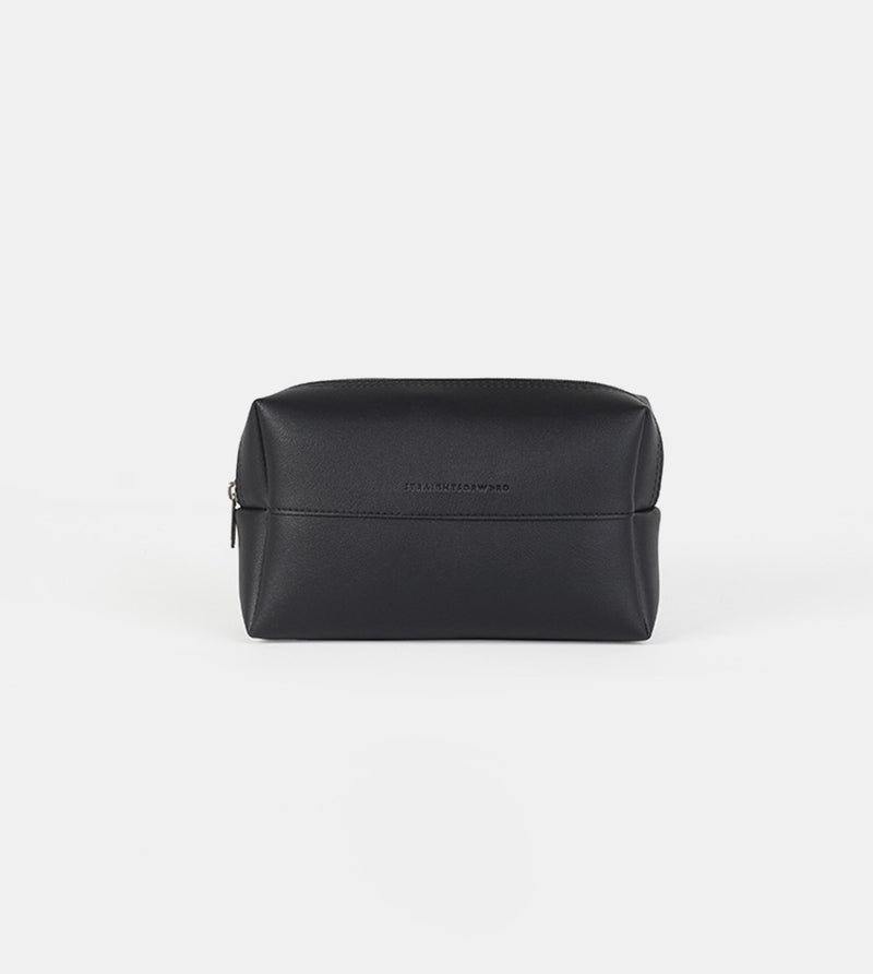 Leather Pouch (Black) - Front