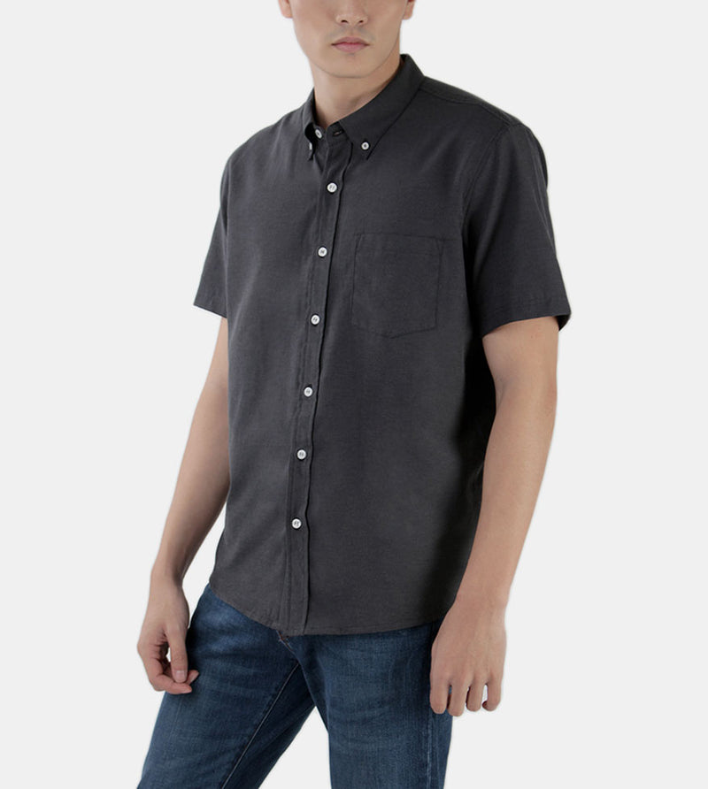 Work & Play Button Down (Black) - Diagonal