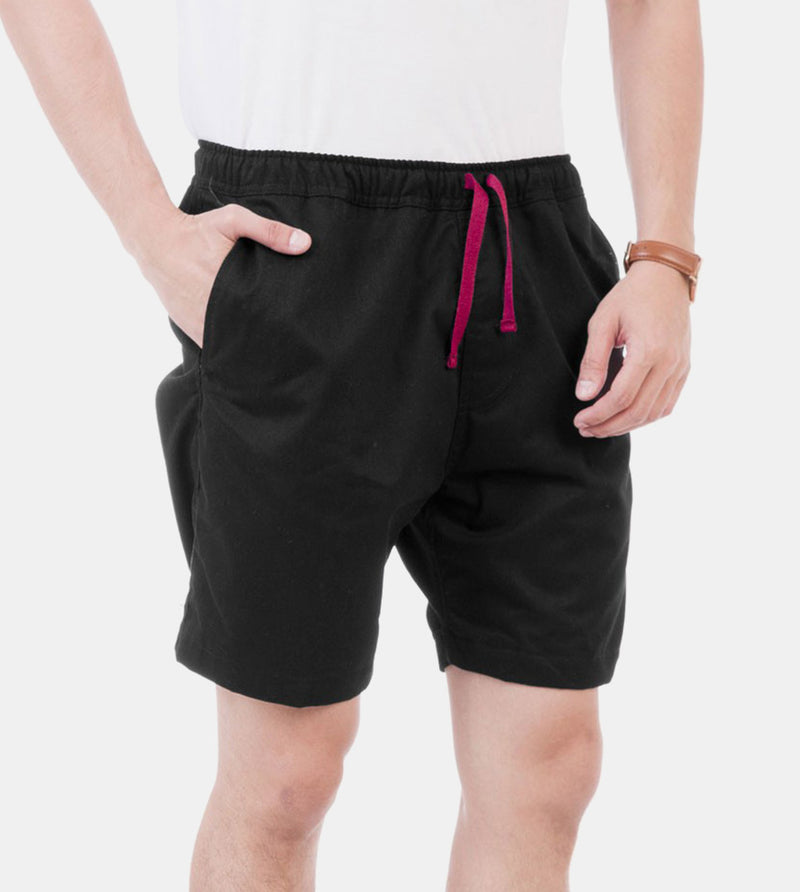 Tailored Shorts (Black) - Diagonal