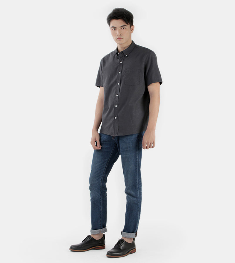 Work & Play Button Down (Black) - Style