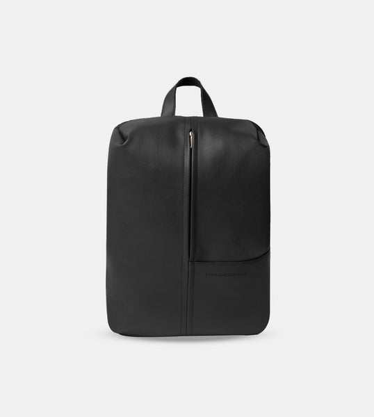 The Daily Vegan Leather Minimalist Backpack (Black)