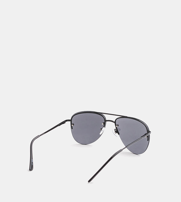 The Skye Sunglasses (Black half frame) - Back