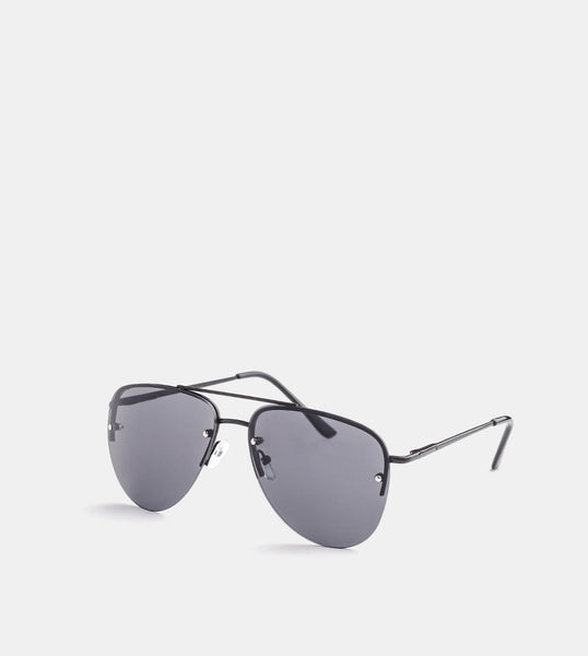 The Skye Sunglasses (Black half frame) - Diagonal
