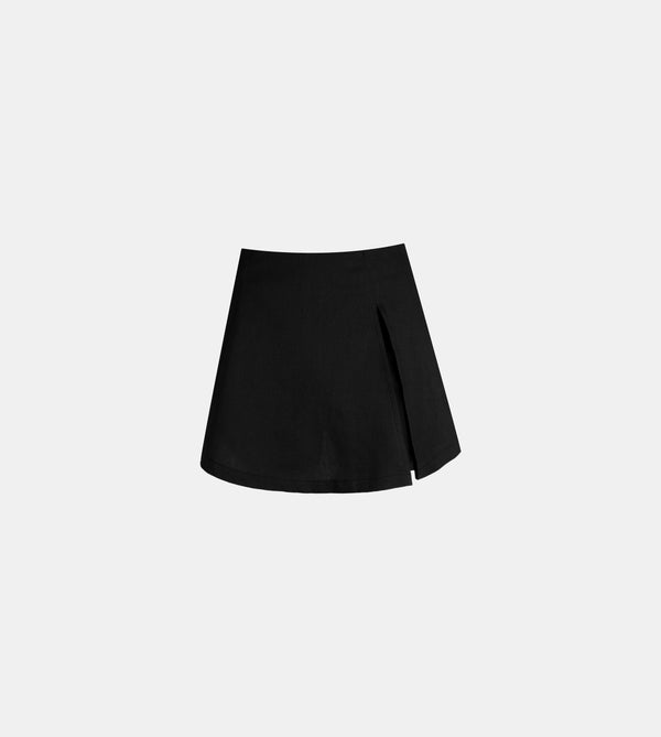 Twill Weave Summer Skorts (Black)
