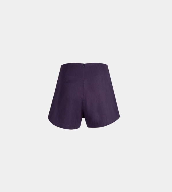 Twill Weave Summer Skorts (Navy Blue)