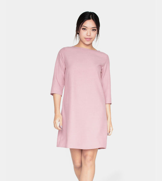 The Serenity Dress (Blush) - Front