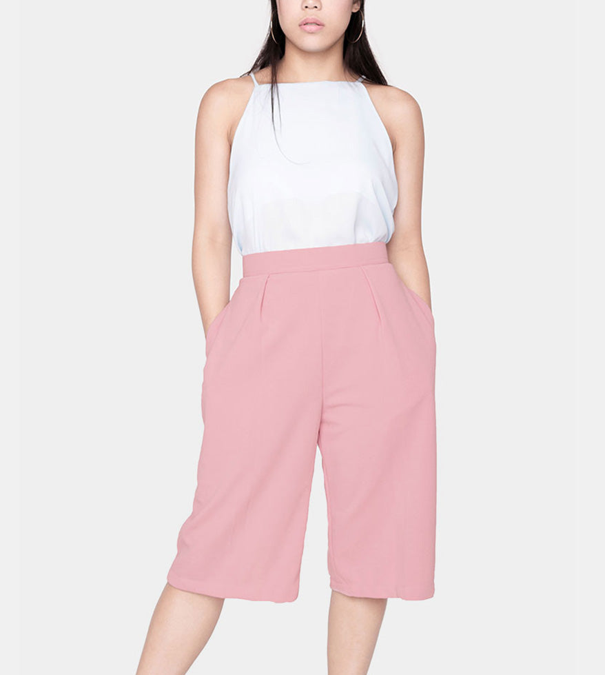 The Power Culottes (Blush) - Front