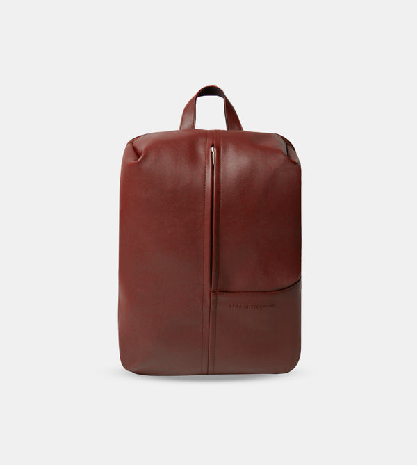 Daily Vegan Leather Minimalist Backpack (Chestnut)