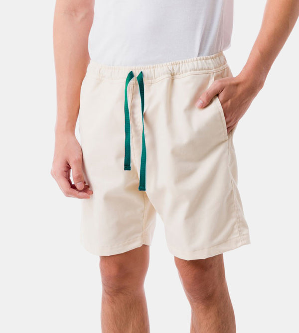 Tailored Shorts (Cream) - Diagonal