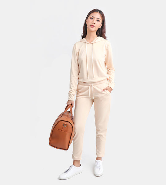 The Cotton Drawstring Pants (Cream)