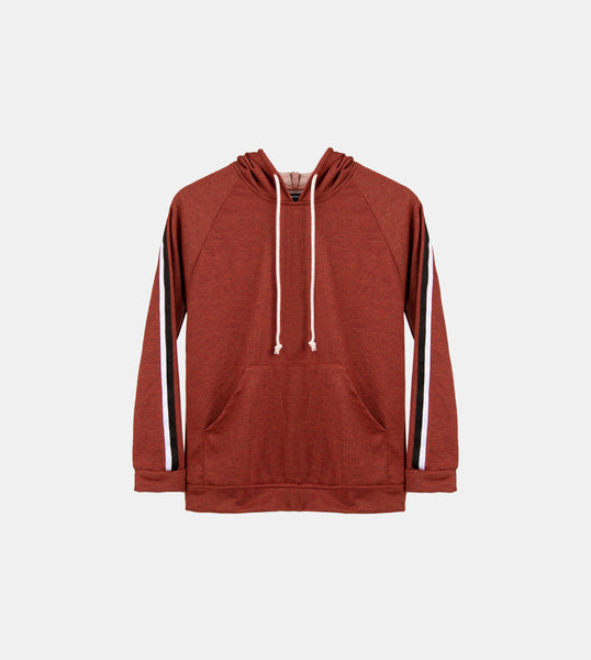 Seasonal French Terry Pullover (Mahogany)