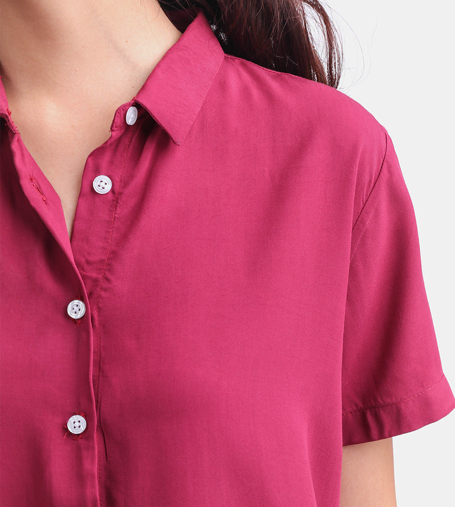 The Button-Down Smart Shirt (Maroon)