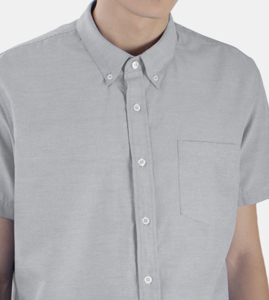 Work & Play Button Down (Gray) - Detailed