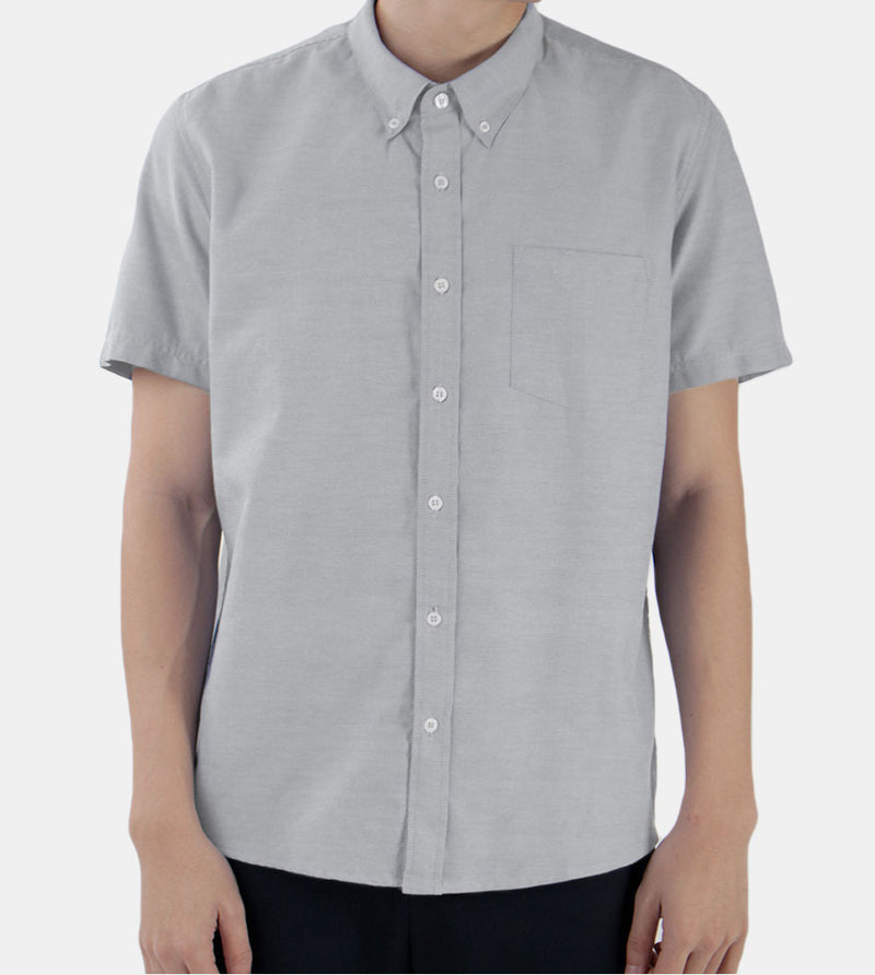 Work & Play Button Down (Gray) - Front