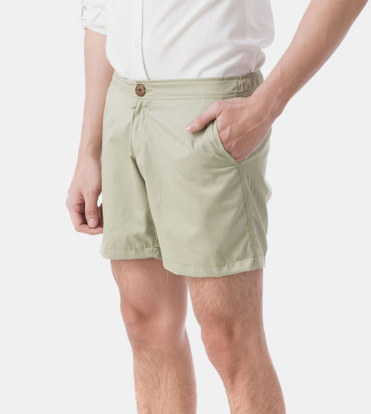 Summer Shorts (Greenery) - Diagonal