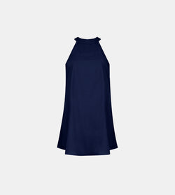 Halter Dress (Navy Blue)