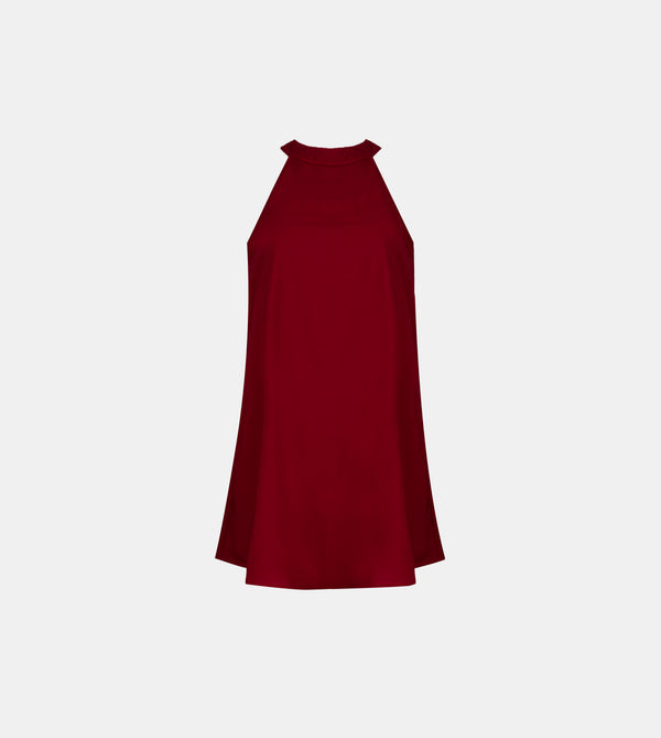 Halter Dress (Maroon)