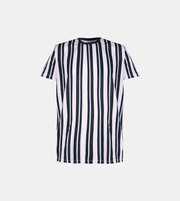 Essential Blend Vertical Striped Tee (Black / Navy Blue)