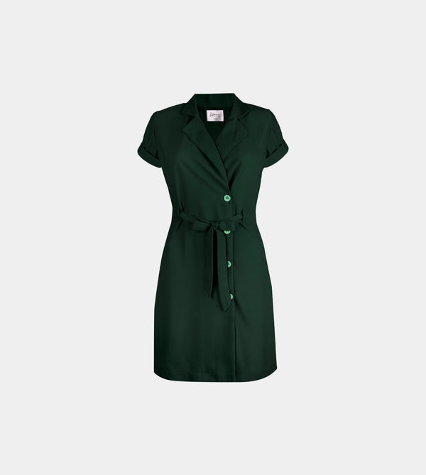Lapel Dress (Green)