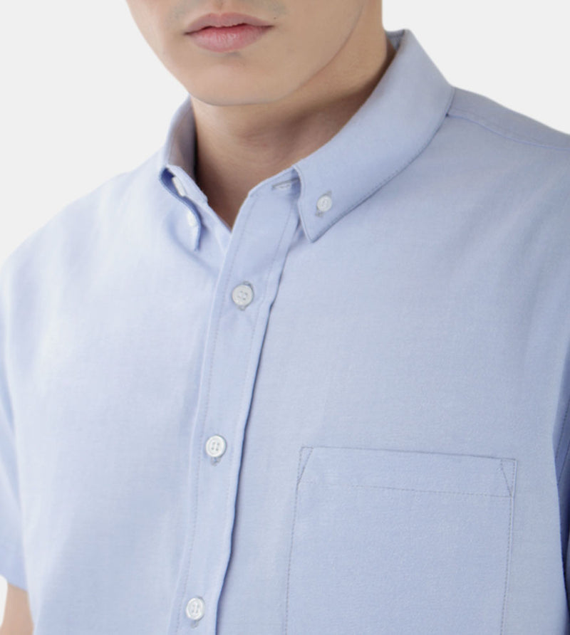 Work & Play Button Down (Light Blue) - Detailed