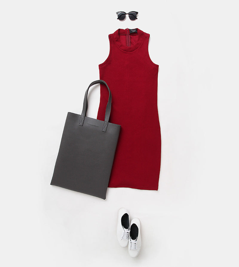 Sleeveless Dress (Maroon)