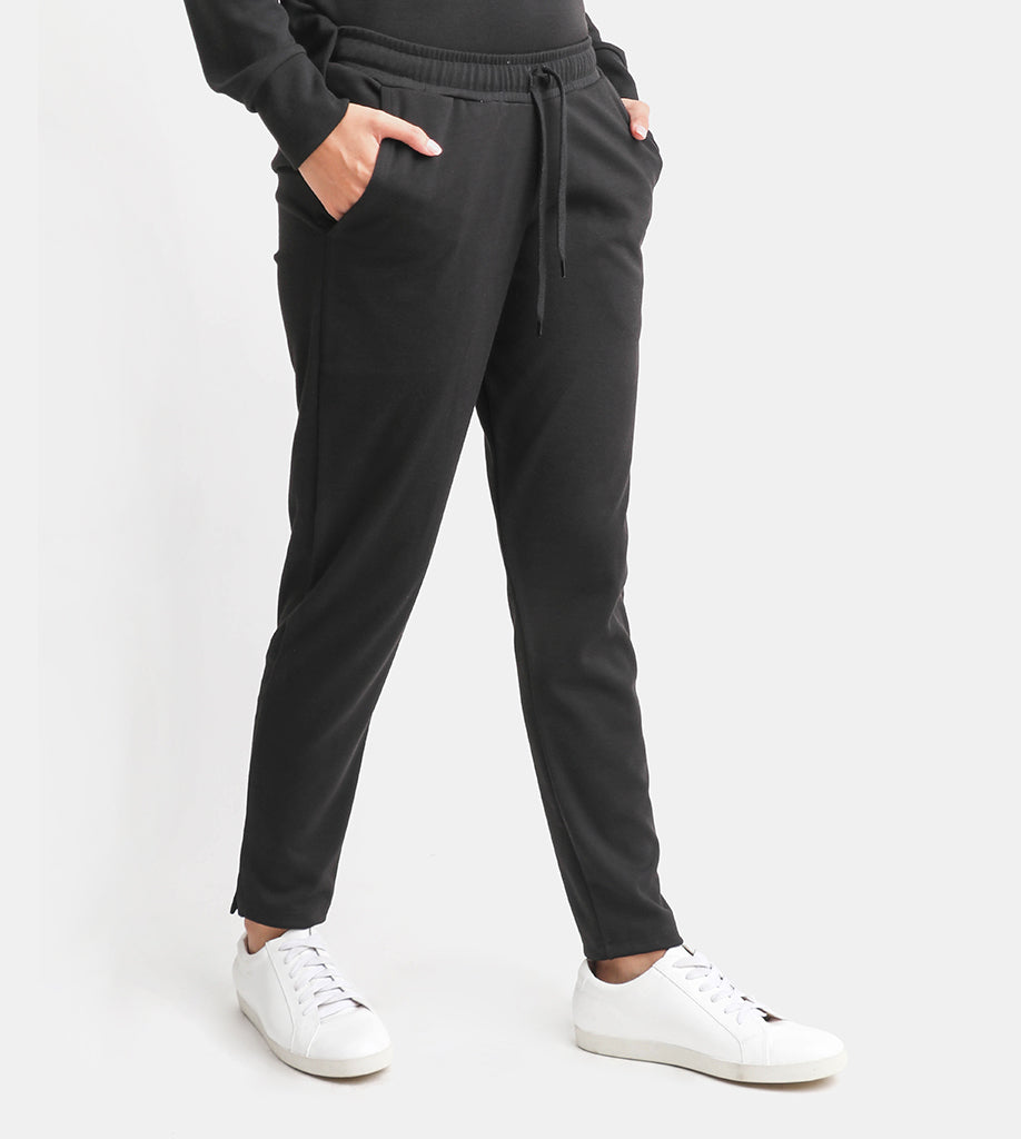 The Cotton Drawstring Pants (Black)
