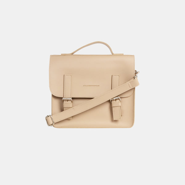 D. V. L. Mini Satchel Bag (Beige)