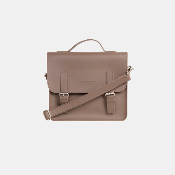 D. V. L. Mini Satchel Bag (Taupe)