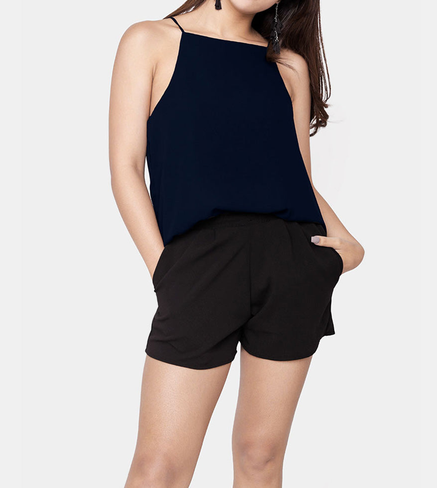 The Weekend Camisole (Navy Blue) - Front
