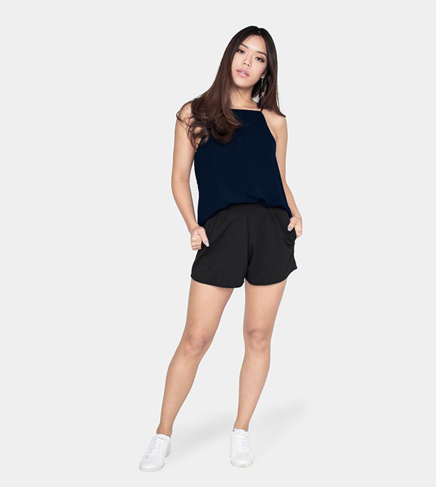 The Weekend Camisole (Navy Blue) - Style