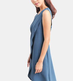 The Layered Shift Dress (Blue)