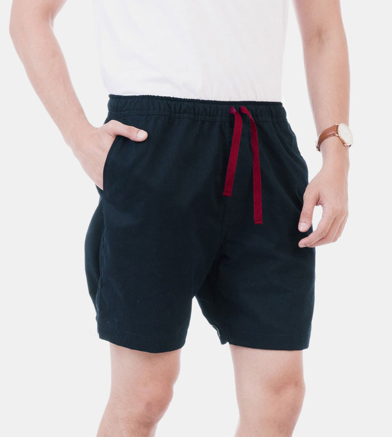 Tailored Shorts (Oxford Blue) - Diagonal