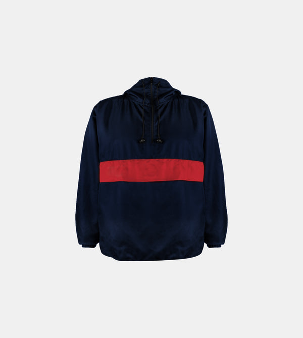 Sleek Techweave Combi Anorak (Navy Blue)